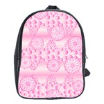 Amoebaflowerspink School Bag (Large)