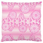Amoebaflowerspink Large Flano Cushion Case (Two Sides)