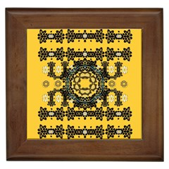 Ornate Circulate Is Festive In A Flower Wreath Decorative Framed Tiles by pepitasart