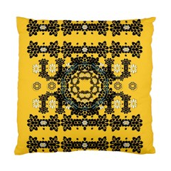 Ornate Circulate Is Festive In A Flower Wreath Decorative Standard Cushion Case (one Side) by pepitasart