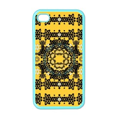 Ornate Circulate Is Festive In A Flower Wreath Decorative Apple Iphone 4 Case (color) by pepitasart