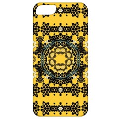 Ornate Circulate Is Festive In A Flower Wreath Decorative Apple Iphone 5 Classic Hardshell Case by pepitasart