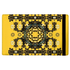Ornate Circulate Is Festive In A Flower Wreath Decorative Apple Ipad 3/4 Flip Case by pepitasart