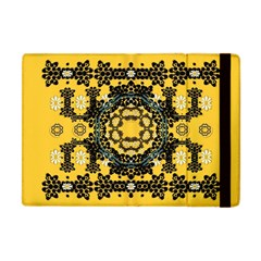 Ornate Circulate Is Festive In A Flower Wreath Decorative Apple Ipad Mini Flip Case by pepitasart