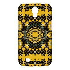 Ornate Circulate Is Festive In A Flower Wreath Decorative Samsung Galaxy Mega 6 3  I9200 Hardshell Case by pepitasart