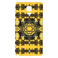 Ornate Circulate Is Festive In A Flower Wreath Decorative Galaxy Note 4 Back Case by pepitasart