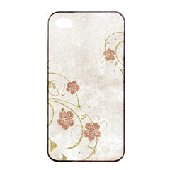 Floral Apple Iphone 4/4s Seamless Case (black) by vintage2030