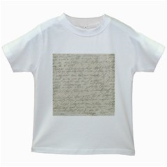 Handwritten Letter 2 Kids White T Shirts