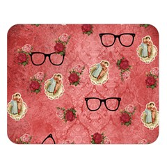 Vintage Glasses Rose Double Sided Flano Blanket (large)  by vintage2030