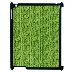Knitted Wool Chain Green Apple Ipad 2 Case (black)