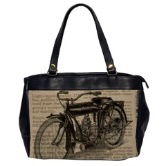 Bicycle Letter Office Handbags (2 Sides)  by vintage2030