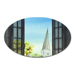 Town 1660455 1920 Oval Magnet by vintage2030