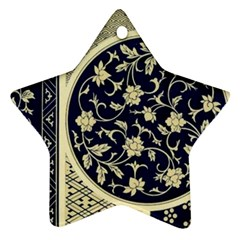 Background Vintage Japanese Star Ornament (two Sides)