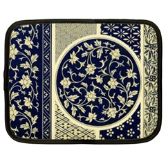 Background Vintage Japanese Netbook Case (xxl)