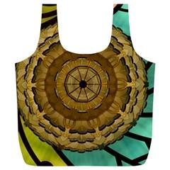 Kaleidoscope Dream Illusion Full Print Recycle Bags (l)