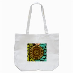 Kaleidoscope Dream Illusion Tote Bag (white)