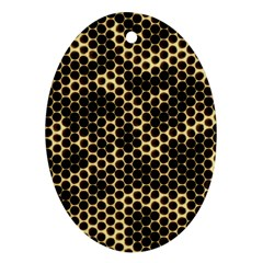 Honeycomb Beehive Nature Ornament (oval)