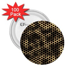 Honeycomb Beehive Nature 2 25  Buttons (100 Pack)