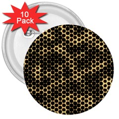 Honeycomb Beehive Nature 3  Buttons (10 Pack)  by Nexatart