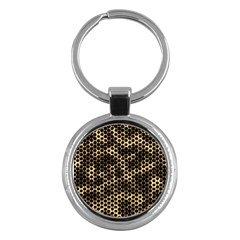 Honeycomb Beehive Nature Key Chains (round)