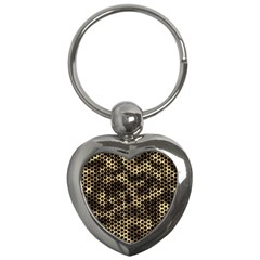 Honeycomb Beehive Nature Key Chains (heart)