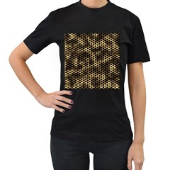 Honeycomb Beehive Nature Women s T Shirt (black) (two Sided)