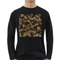 Honeycomb Beehive Nature Long Sleeve Dark T Shirts