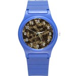 Honeycomb Beehive Nature Round Plastic Sport Watch (S) Front