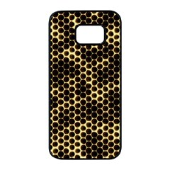 Honeycomb Beehive Nature Samsung Galaxy S7 Edge Black Seamless Case