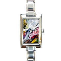 Abstract Art Detail Painting Rectangle Italian Charm Watch