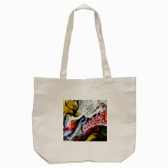 Abstract Art Detail Painting Tote Bag (cream) by Nexatart
