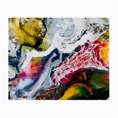 Abstract Art Detail Painting Small Glasses Cloth