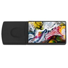 Abstract Art Detail Painting Rectangular Usb Flash Drive