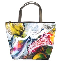 Abstract Art Detail Painting Bucket Bags