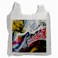 Abstract Art Detail Painting Recycle Bag (two Side)