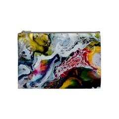 Abstract Art Detail Painting Cosmetic Bag (medium)