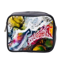 Abstract Art Detail Painting Mini Toiletries Bag 2 Side by Nexatart