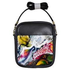 Abstract Art Detail Painting Girls Sling Bags