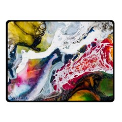 Abstract Art Detail Painting Fleece Blanket (small)
