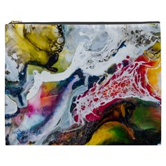 Abstract Art Detail Painting Cosmetic Bag (xxxl)  by Nexatart