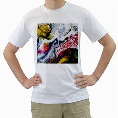 Abstract Art Detail Painting Men s T Shirt (white)