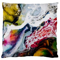 Abstract Art Detail Painting Large Flano Cushion Case (two Sides)