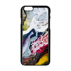 Abstract Art Detail Painting Apple Iphone 6/6s Black Enamel Case