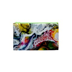 Abstract Art Detail Painting Cosmetic Bag (xs)