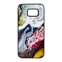 Abstract Art Detail Painting Samsung Galaxy S7 Edge Black Seamless Case