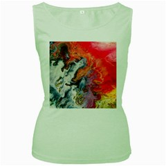 Art Abstract Macro Women s Green Tank Top