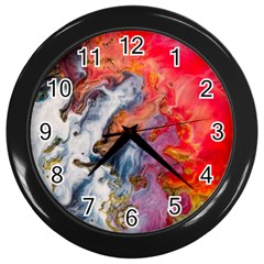 Art Abstract Macro Wall Clocks (black)
