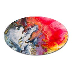 Art Abstract Macro Oval Magnet