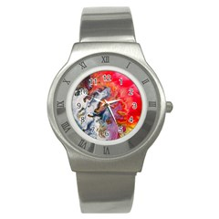 Art Abstract Macro Stainless Steel Watch