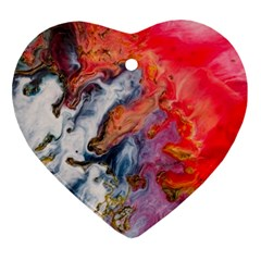 Art Abstract Macro Heart Ornament (two Sides)